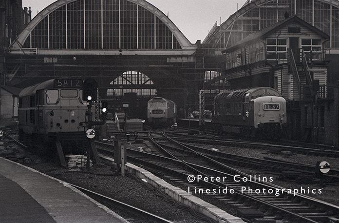 A view from York Road station of the eastern platforms of King's Cross station in the 1970s.